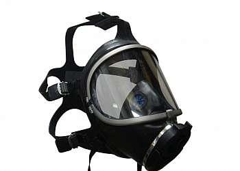 Máscara autônoma com cilindro de oxigenio